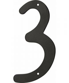 4 in. Nail-On Aluminum House Number 3 in.