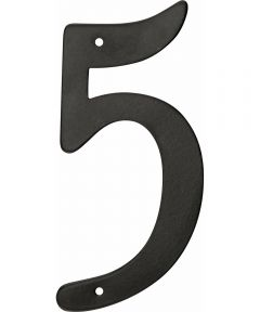 4 in. Nail-On Aluminum House Number 5 in.
