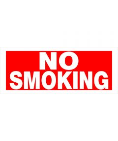 No Smoking Sign 6 in. X 15 in.