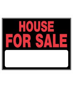 House For Sale Red and Black Sign 15 in. x 20 in.