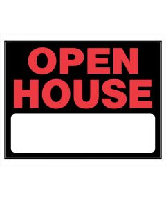 Open House Red and Black Sign 15 in. x 19 in.