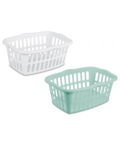 Sterilite Rectangular Laundry Basket, Assorted Colors