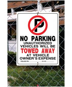 No Parking Sign 19 in. X 15 in.