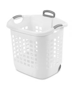 Sterilite 14 Gallon White Ultra Wheeled Laundry Basket