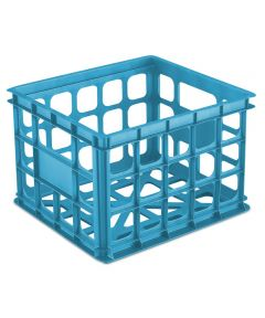 Sterilite 15-1/4 in. x 13-3/4 in. x 10-1/2 in. Blue Aquarium Storage Crate