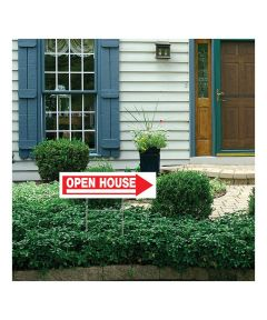 Open House Sign With Frame 6 in. x 24 in.