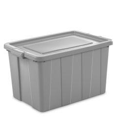 Sterilite 30 Gallon Tuff1 Storage Tote, Cement Gray