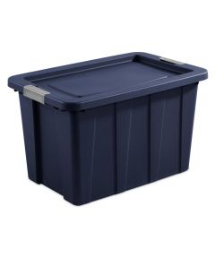 Sterilite 30 Gallon Dark Indigo Stackable Latching Tuff1 Tote