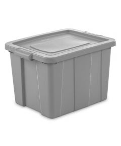 Sterilite 18 Gallon Cement Stackable Tuff1 Tote