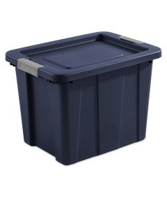 Sterilite 18 Gallon Dark Indigo Stackable Latching Tuff1 Tote