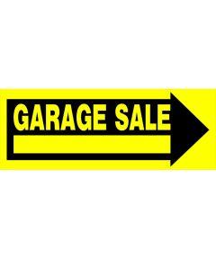 Arrow Shaped Garage Sale Sign
