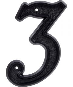 6 in. Matte Black House Number 3