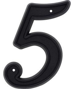 6 in. Matte Black House Number 5