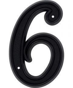 6 in. Matte Black House Number 6