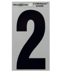 5 in. Black and Silver Reflective Adhesive Number 2