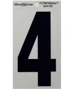 5 in. Black and Silver Reflective Adhesive Number 4