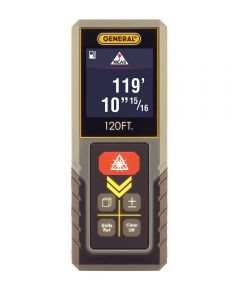 General 120' Compact Laser Measure, Continuous Measurement, Midpoint