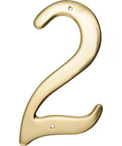 4 in. Nail-On Brass House Number 2 in.