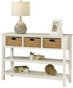 Cottage Road Console With Baskets