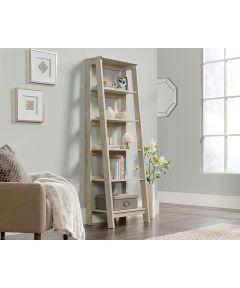 Trestle 5-Shelf Bookcase, Chalked Chestnut Finish