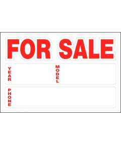 Automobile for Sale Static Cling