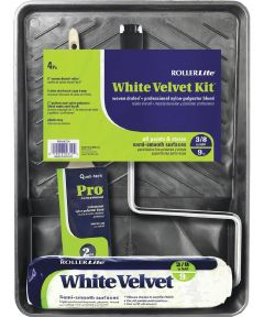 RollerLite White Velvet 4 Piece Paint Kit