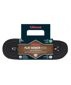 Gilmour 5/8 in. x 25 ft. Black Flat Soaker Water Hose