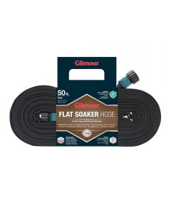 Gilmour 5/8 in. x 50 ft. Black Flat Soaker Water Hose