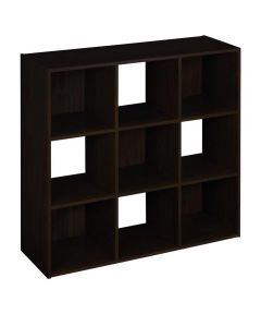 Cubeicals 9 Cube Storage Organizer Shelf, Espresso Color