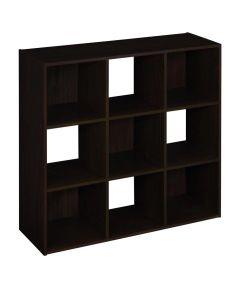 Cubeicals 9 Cube Storage Organizer Shelf, Espresso