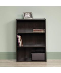 3-Shelf Bookcase, Cinnamon Cherry Finish