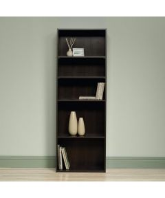 5-Shelf Bookcase, Cinnamon Cherry Finish