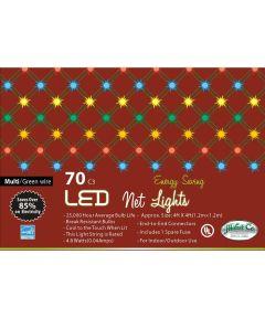 70 Multi Color LED C3 LED Net Christmas Lights