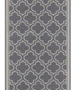 Multy 26 in. Wide Grey Amherst Cut-to-Length Decor Floor Mat Runner (Sold per Foot)