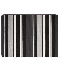 Multy 3 ft. x 4 ft. Charcoal Stripe Karlin Floor Mat