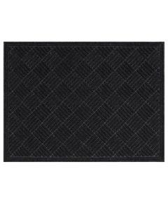 Multy 3 ft. x 4 ft. Black Contours Floor Mat