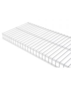 Rubbermaid 6 ft. x 12 in. White Linen Wire Shelf