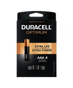 Duracell Optimum AAA 1.5V Alkaline Batteries, 4 Pack