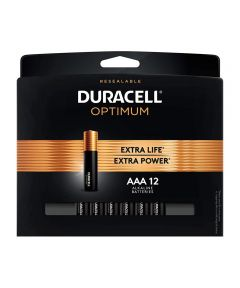 Duracell Optimum AAA 1.5V Alkaline Batteries, 12 Pack