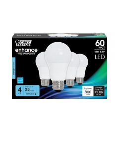 Feit Electric 800 Lumen 5000K Dimmable LED Light Bulbs, 4 Pack (Valued at $12.99)