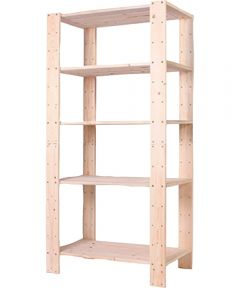 Pine Wood 5 Shelf Storage