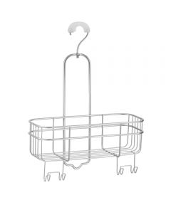InterDesign Euro Metal Hanging Bathroom Shower Caddy with Swivel Hook
