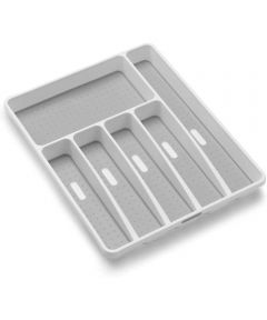 Classic Collection Large Silverware Tray, White