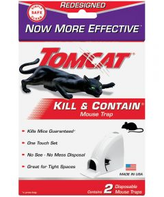 Tomcat 2-Pack Kill & Contain Disposable Mouse Traps