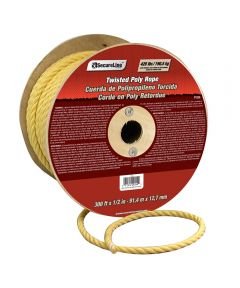 1/2 in. Yellow Polypropylene Twisted Rope (Sold Per Foot)