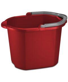 Sterilite 16 Quart Dual Spout Pail, Red