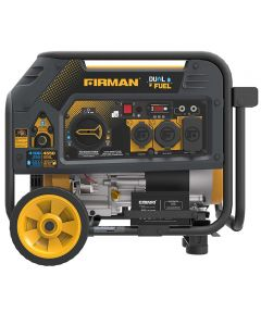 Firman 4550/3650 Watt Electric Start Hybrid Gas or Propane Dual Fuel Portable Generator