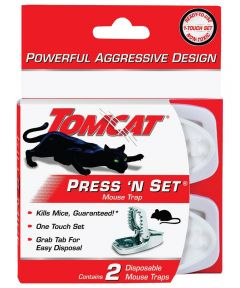 Tomcat 2-Pack Press 'N Set Disposable Mouse Traps