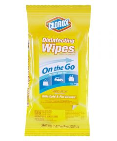 Clorox Disinfectant Wipes On the Go Travel Size, Citrus Scent, 34 Wet Wipes