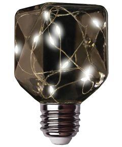 Feit LED Fairy Light Soft White Square Bulb, E26 Standard Medium Base